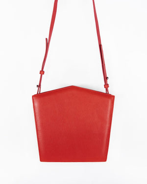 Tomato Pentagon Nappa Leather Shoulder Bag