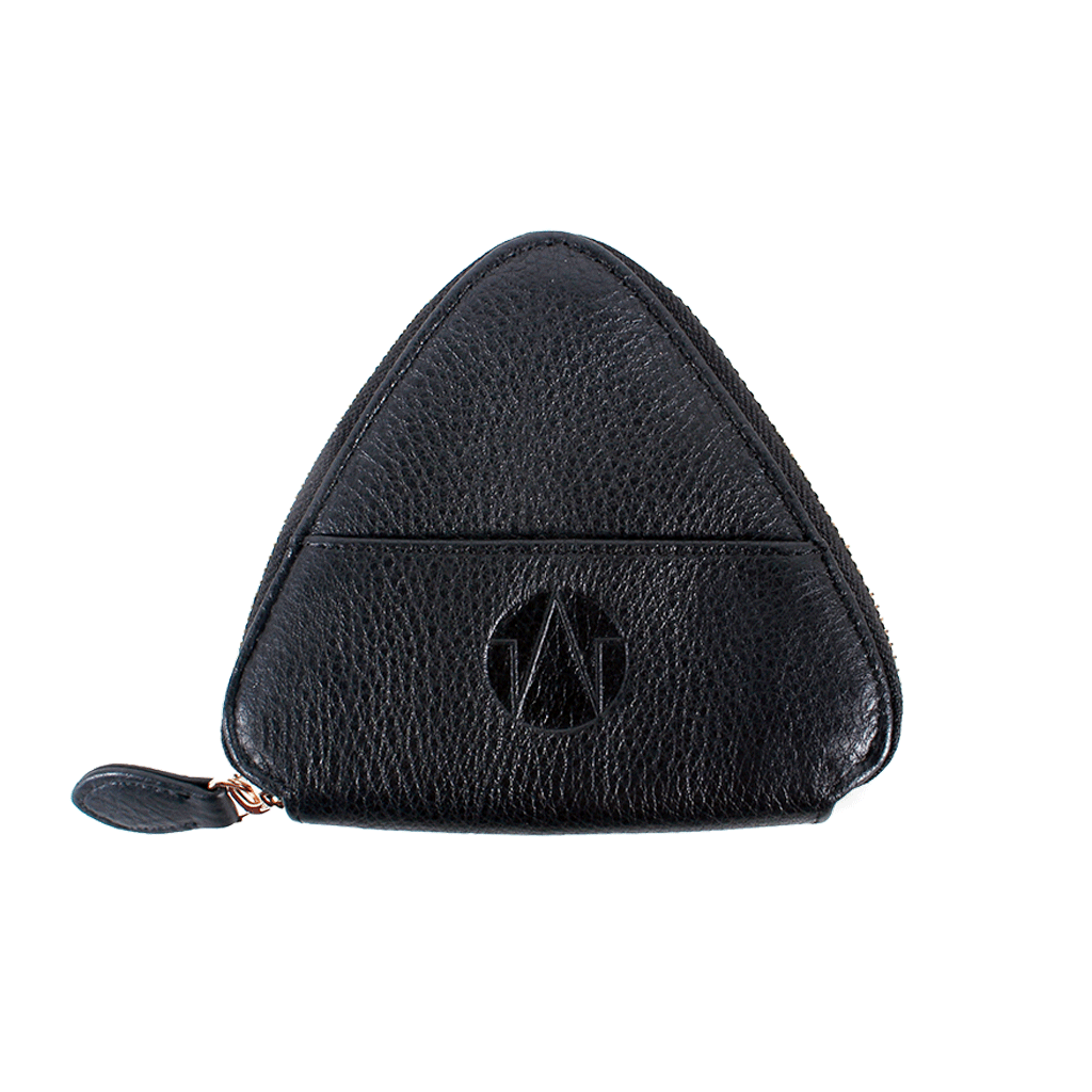 TAT_WHYSOSERIOUS_triangle purse_2286_black back with one card slot
