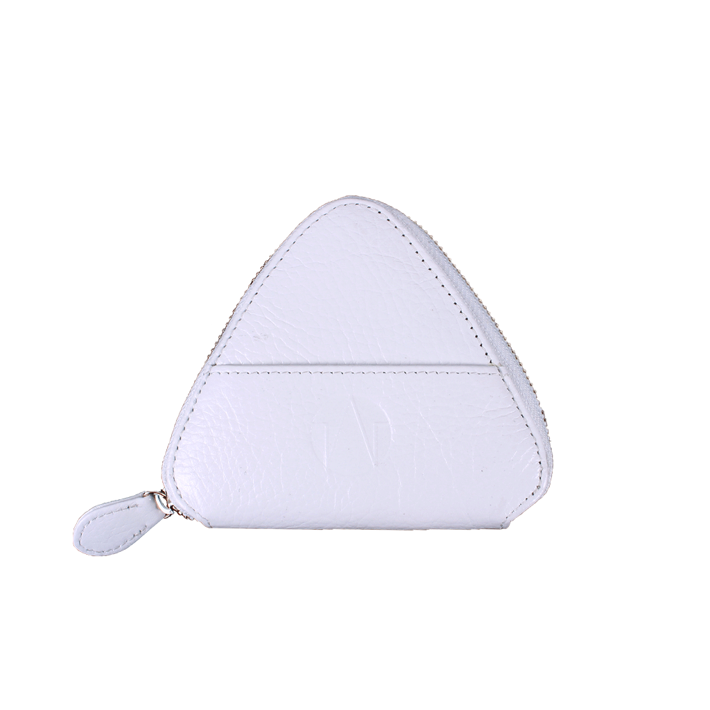 TAT_WHYSOSERIOUS_triangle purse_2286_white back with one card slot