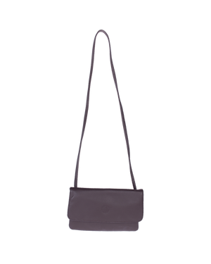Hazelnut Casual Go Bag Cow Leather Flap Cross-Body