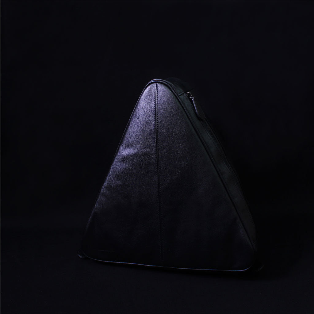 TAT_whysoserious_triangle backpack_black front