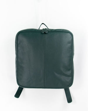 Unisex Square Leather Backpack・Forest Green