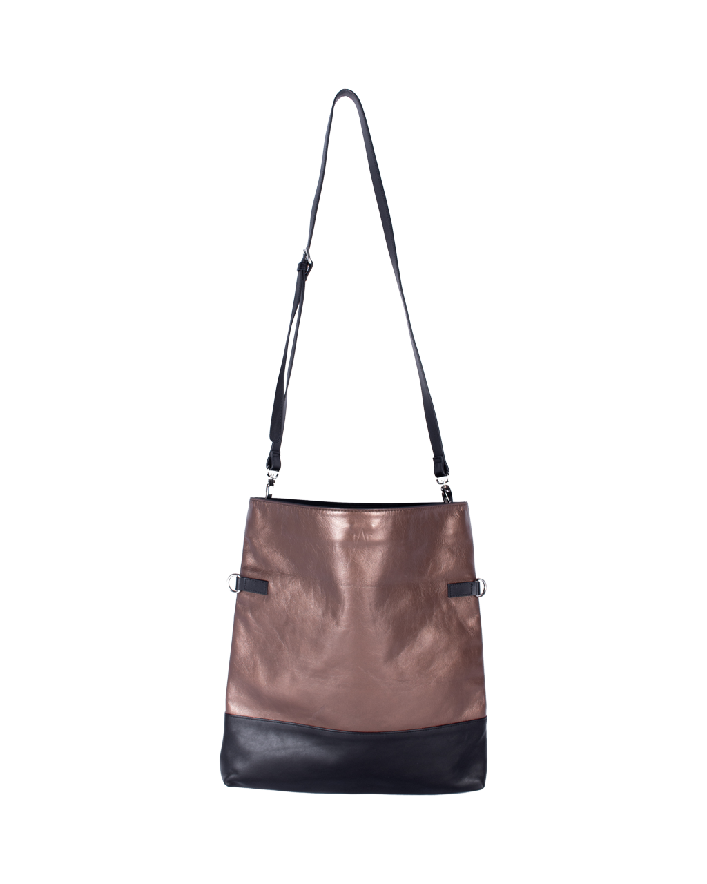 TAT_normcore_14583_twotone crossbody shoulder bag__ bronze