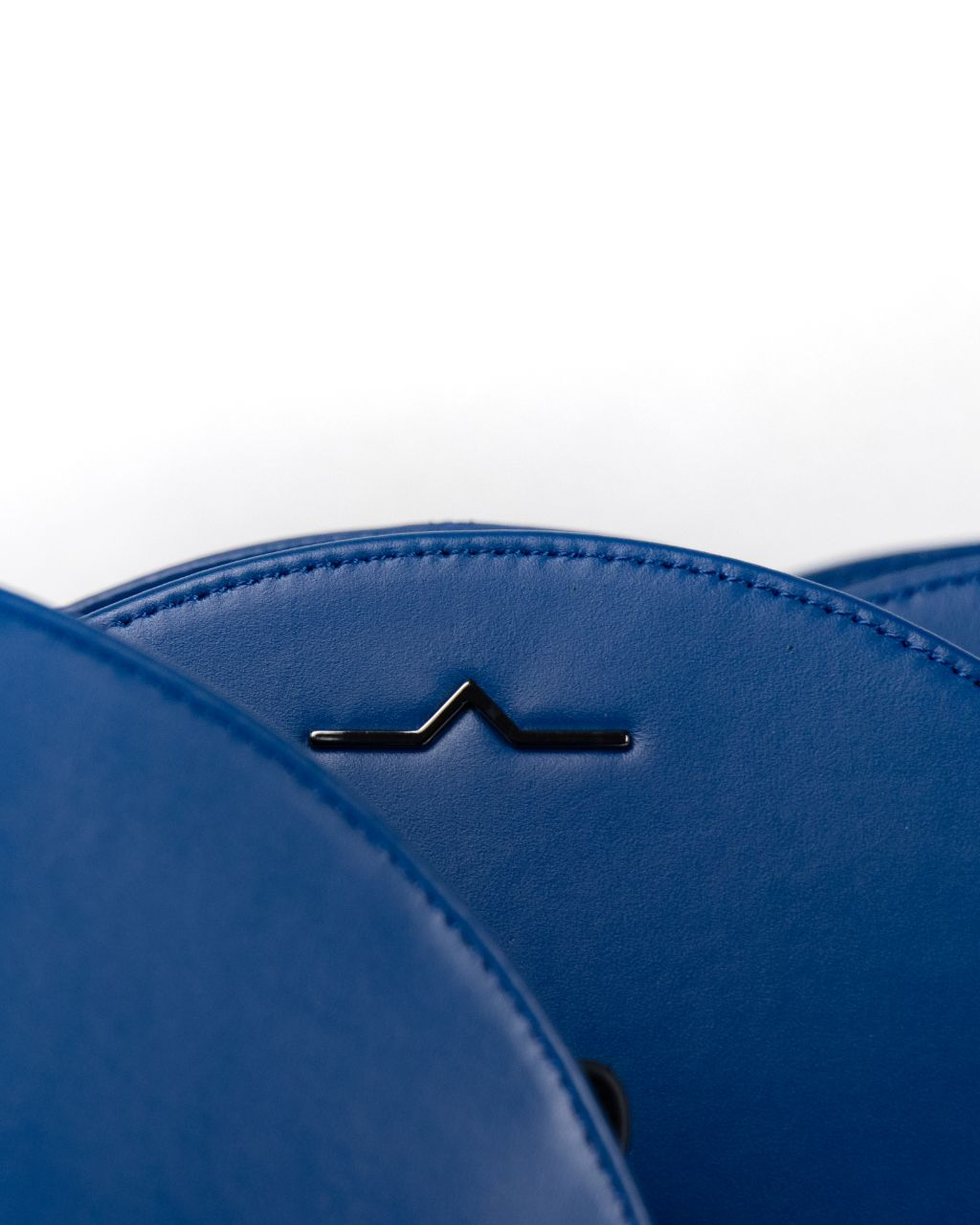 Lapis Blue Circle Shoulder Bag in Calf Skin – Limited Edition