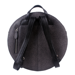 Fission Round Embossed Leather Backpack - imperfect item