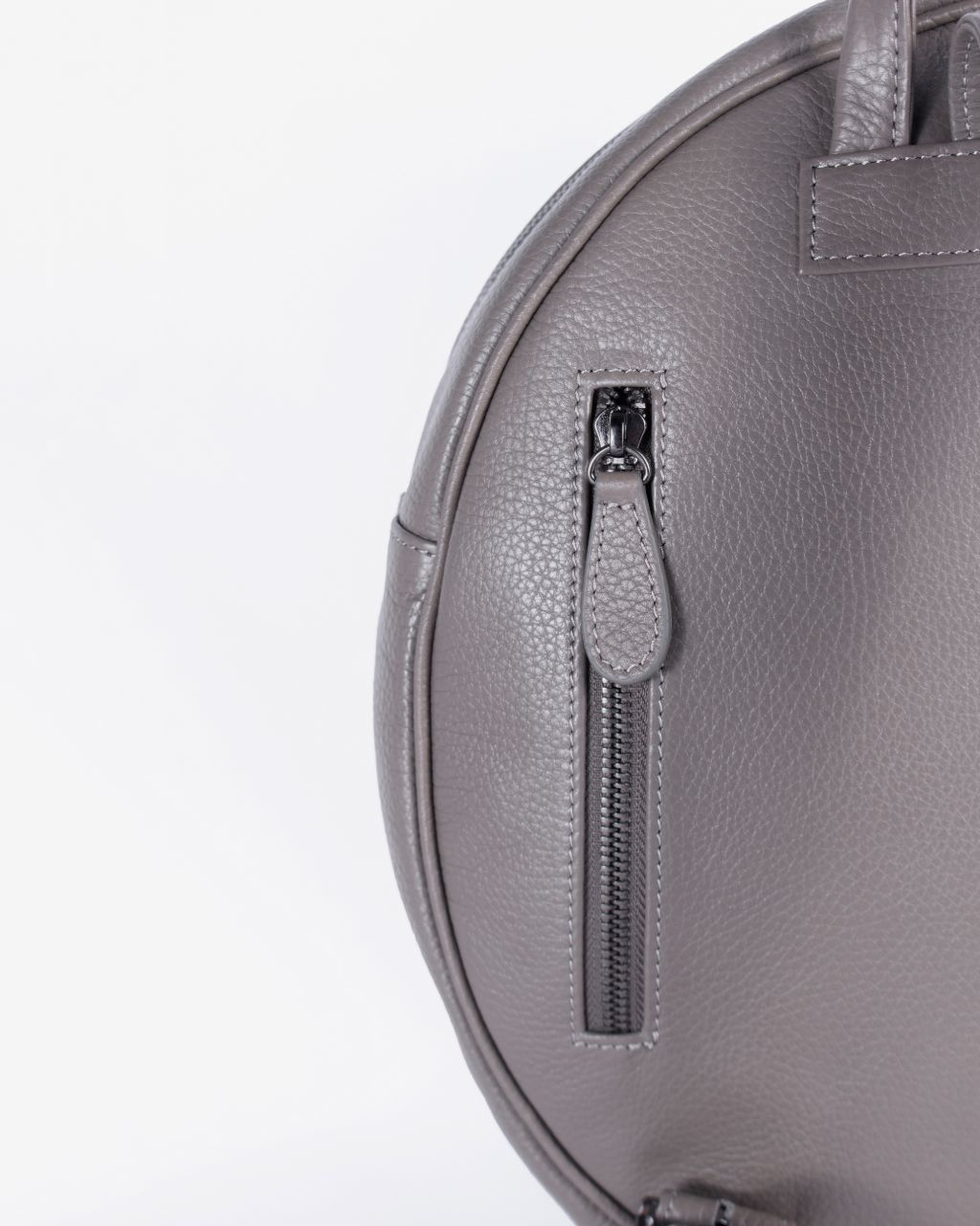 Playful yet Minimal Round Backpack - Fossil