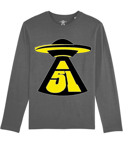 First Contact - Long Sleeve T-Shirt For Men - Abduction 51 Extraterrestrial Streetwear | UFO & Alien Inspired