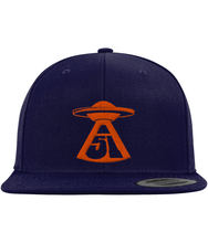 Load image into Gallery viewer, First Contact - Snapback Cap - Abduction 51 Extraterrestrial Streetwear | UFO & Alien Inspired