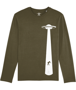 Take The Humans - Long Sleeve T-Shirt For Men - Abduction 51 Extraterrestrial Streetwear | UFO & Alien Inspired