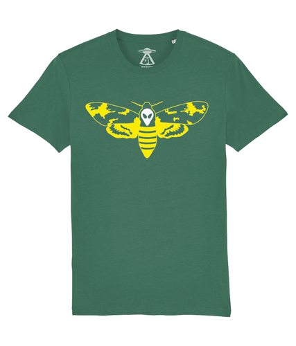 Tim's Head Moth - T-Shirt For Men - Abduction 51 Extraterrestrial Streetwear | UFO & Alien Inspired