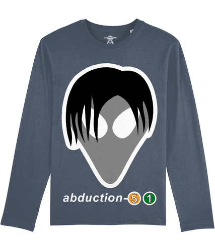 Tom Exists - Long Sleeve T-Shirt For Men - Abduction 51 Extraterrestrial Streetwear | UFO & Alien Inspired