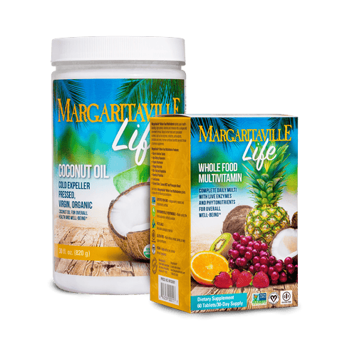 Margaritaville Life Extra Virgin Coconut Oil + Whole Food Multivitamin - Margaritaville Life