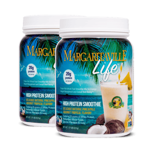 Margaritaville Life Tropical Smoothie Mix Protein Powder - (2 Tubs | 1 Month Supply) - Margaritaville Life