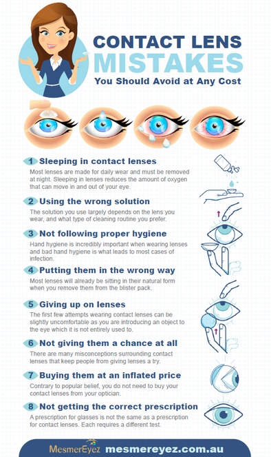 Worst Mistakes to make with Contact Lenses