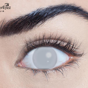 Blind Grey Halloween Contact Lenses
