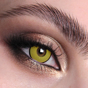 Mal Chick Yellow Colour Contact Lense. Available In A Variety Of Durations. Coloured Yellow
