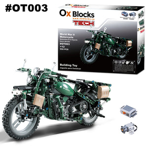 Building Toy 550pcs - World War II Motorcycle