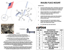 Load image into Gallery viewer, FLAG MOUNT - G3-4 TOWERS  |  MALIBU