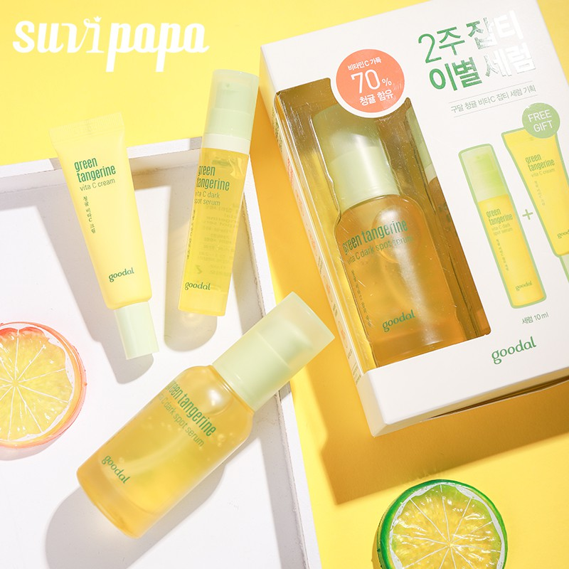 Goodal Green Tangerine Vita C Dark Spot Serum 30ml 1Oz, , GOODAL, KOREASTAGRAM- KOREASTAGRAM  |  BEAUTY IS IN OUR DNA