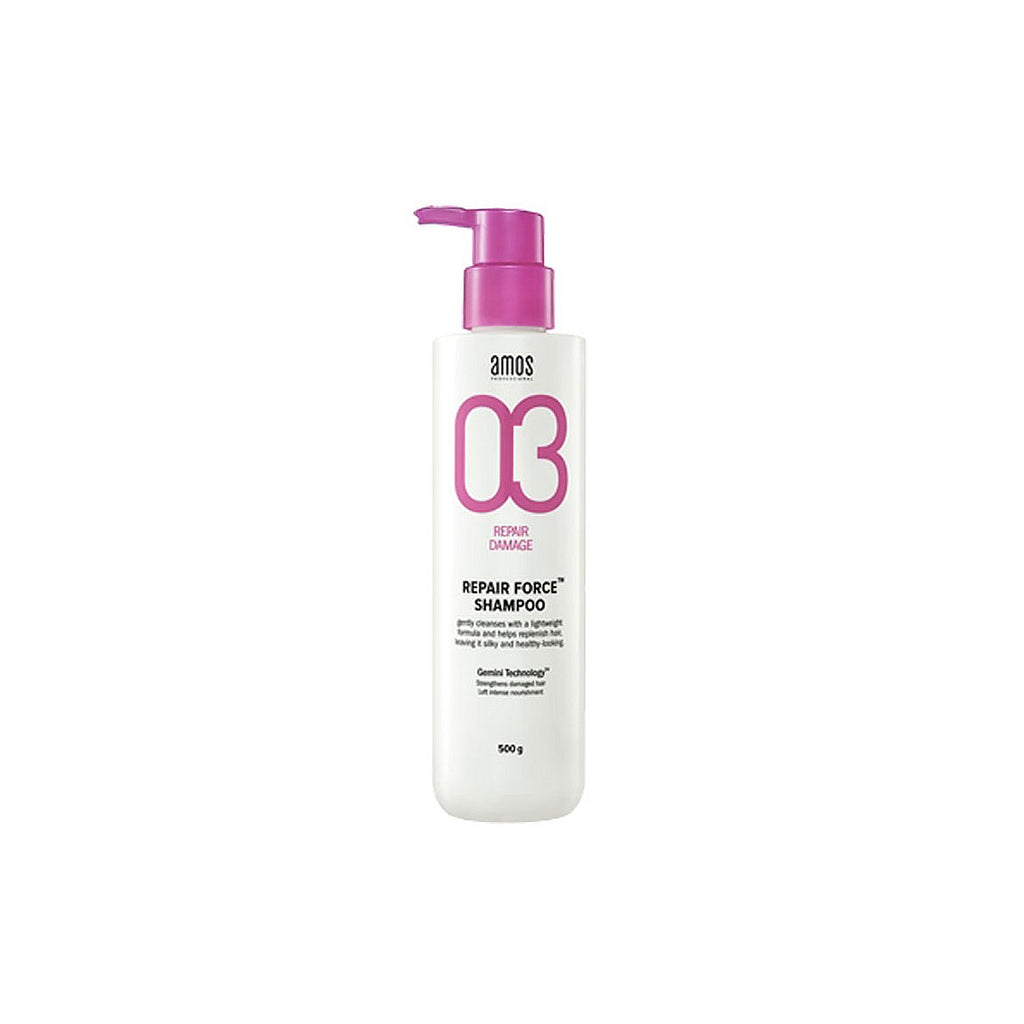 Amore Pacific Amos Repair Force Shampoo 500 g 17.6 Oz for Damaged Hair, , Amore Pacific Amos, KOREASTAGRAM- KOREASTAGRAM  |  BEAUTY IS IN OUR DNA