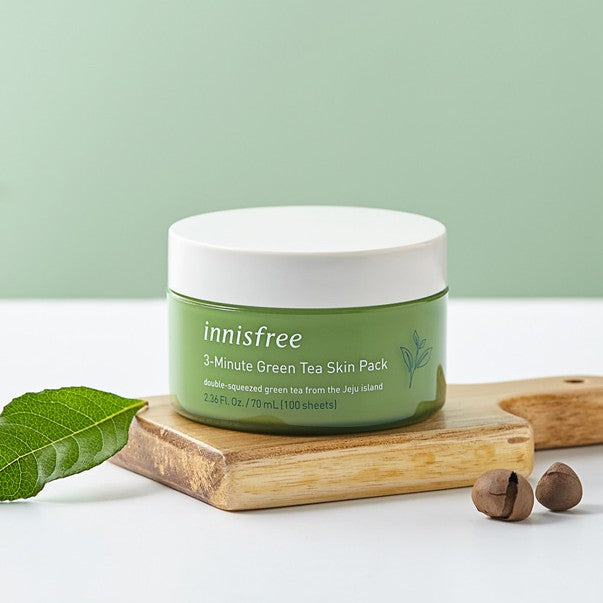 innisfree 3-Minute Green Tea Skin Pack 70ml (100 sheets), , innisfree, KOREASTAGRAM- KOREASTAGRAM  |  BEAUTY IS IN OUR DNA