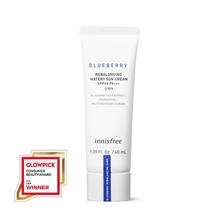 Innisfree Blueberry Rebalancing Watery Sun Cream 40ml