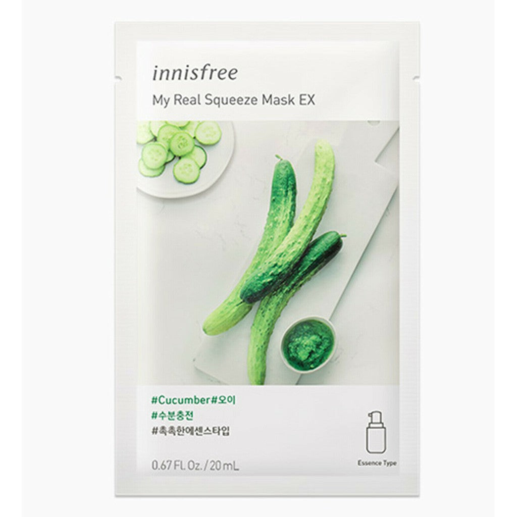 Innisfree Cucumber My Real Squeeze Mask 20ml 10pcs