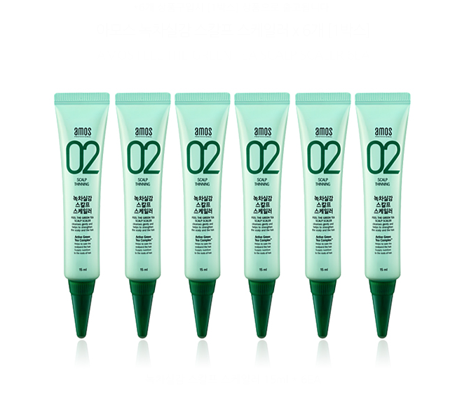 Amore Pacific Amos Feel The Green Tea Scalp Scaler  15 ml   6EA, , Amore Pacific Amos, KOREASTAGRAM- KOREASTAGRAM  |  BEAUTY IS IN OUR DNA