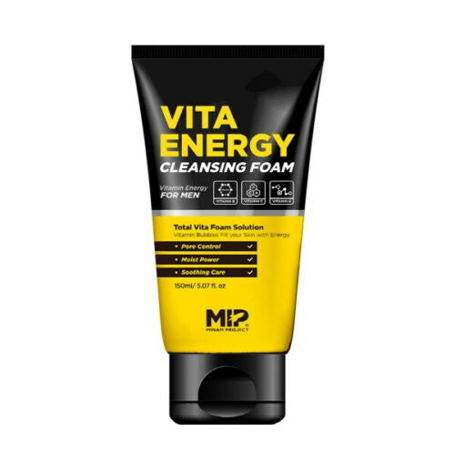 MIP Vita Energy Cleansing Foam 150ml 5.07Oz Sebum Trouble Strong Moisturization