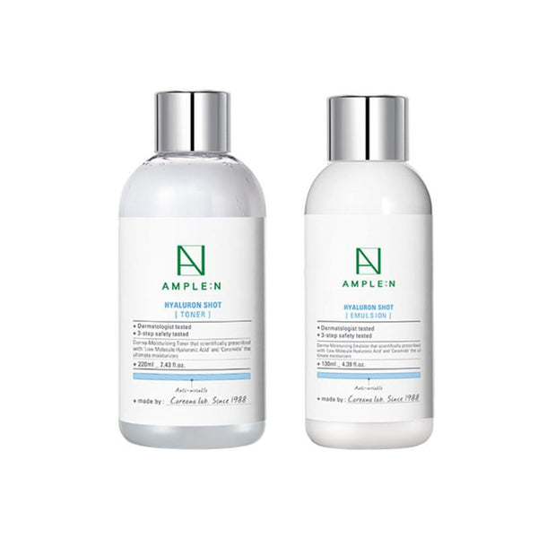 Coreana Ample:n Hyaluron Shot Toner 220ml Emulsion 130ml Set