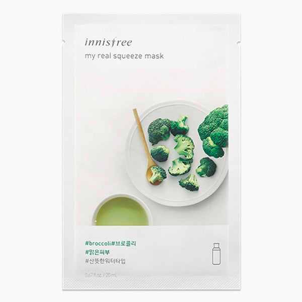Innisfree Broccoli My Real Squeeze Mask 20ml 10pcs