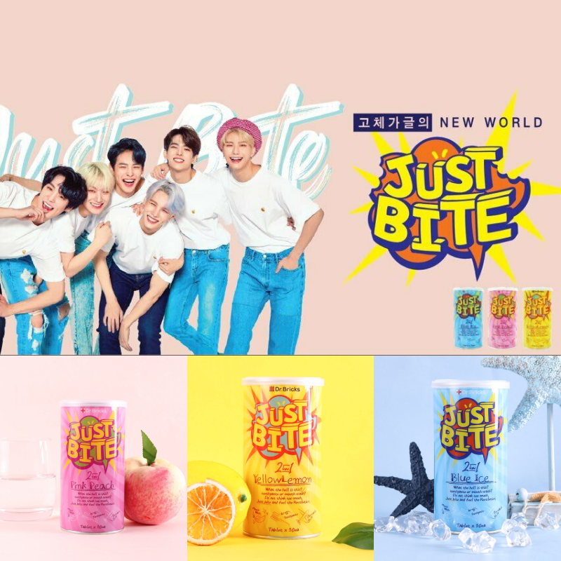 JustBite×Victon Chewable Solid Toothpaste Gargle 30Tablets with Free Photocard