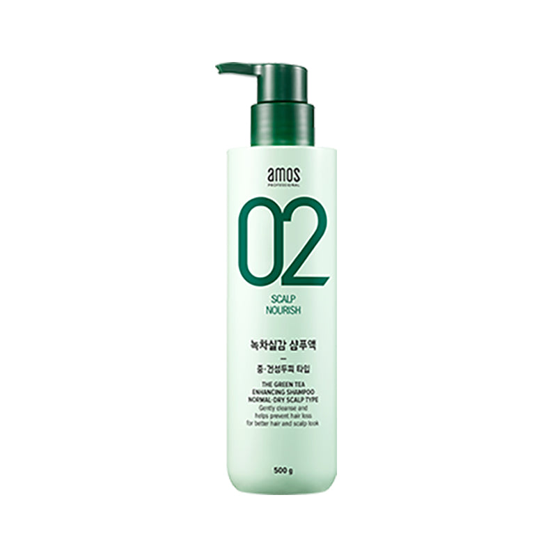 Amore Pacific Amos Feel the Green Tea Shampoo 500 g Anti-Hair Loss Dry Scalp, , Amore Pacific Amos, KOREASTAGRAM- KOREASTAGRAM  |  BEAUTY IS IN OUR DNA
