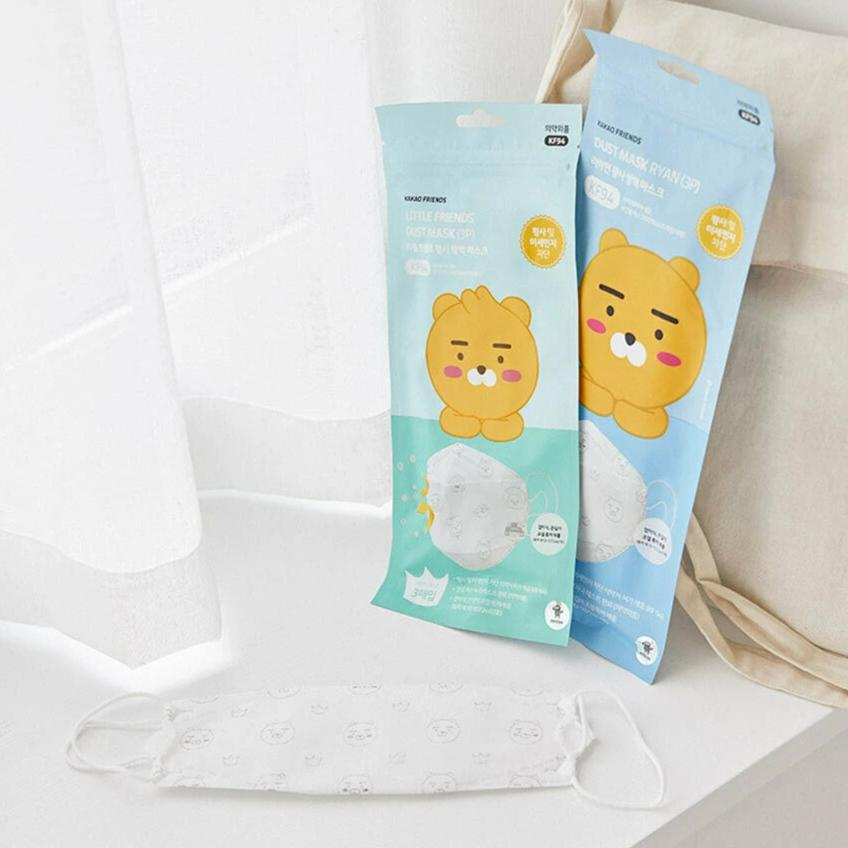 Kakao Friends Dust Mask Ryan KF94 Blocks fine dust and infected viruses, , Kakao Friends, KOREASTAGRAM- KOREASTAGRAM  |  BEAUTY IS IN OUR DNA