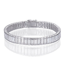 Load image into Gallery viewer, BAGUETTE CUT TENNIS BRACELET