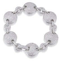 Load image into Gallery viewer, PAVE SET DISC BRACELET