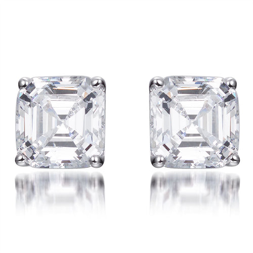 ZARA ASSCHER CUT STUD EARRINGS