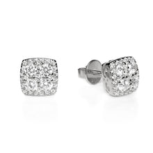 Load image into Gallery viewer, SQUARE CLUSTER STUD EARRINGS