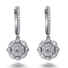 Load image into Gallery viewer, GEORGIA CLUSTER DROP EARRINGS