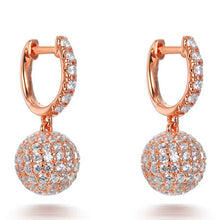 Load image into Gallery viewer, PAVE SET DISCO BALL DROP EARRINGS