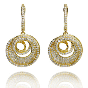 SPIRAL DROP EARRINGS