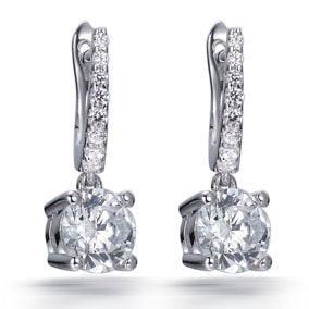 LUCY SOLITAIRE DROP EARRINGS