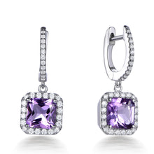 Load image into Gallery viewer, ROYAL HALO DROP EARRINGS