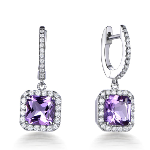 ROYAL HALO DROP EARRINGS
