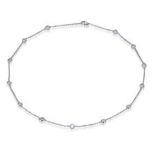 Load image into Gallery viewer, BRILLIANT CUT CHAIN NECKLACE 18ins