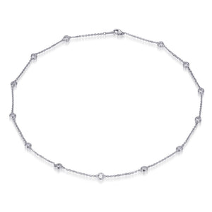 BRILLIANT CUT CHAIN NECKLACE 18ins