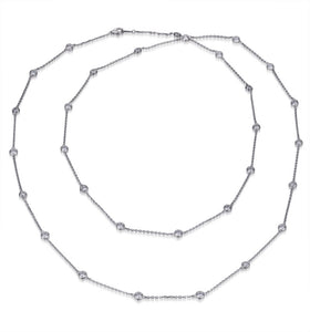 BRILLIANT CUT SPECTACLE CHAIN NECKLACE 42ins