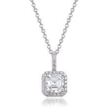 Load image into Gallery viewer, PRINCESS CUT HALO PENDANT
