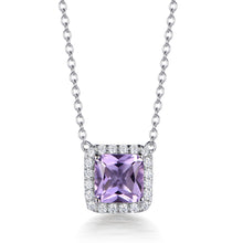 Load image into Gallery viewer, ROYAL HALO ASSCHER CUT PENDANT
