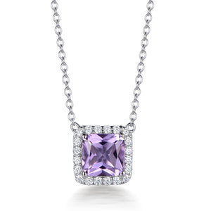 ROYAL HALO ASSCHER CUT PENDANT